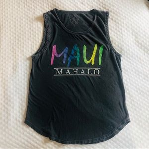 Chaser Tops - CHASER BRAND - Maui muscle tank, size small